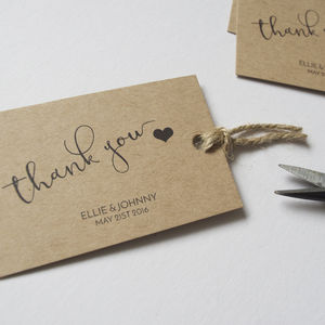 Personalised Wedding Favour Tags - table decorations