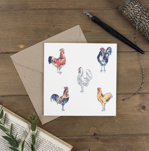 Chickens Square Card