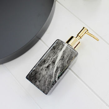 Grey Marble Effect Soap Dispenser