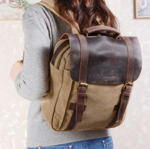 Colorway Canvas And Leather Backpack
