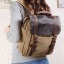 Colorway Canvas And Leather Backpack Gift For Her