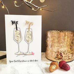 Mr And Mrs Swizzle Stick Christmas Card