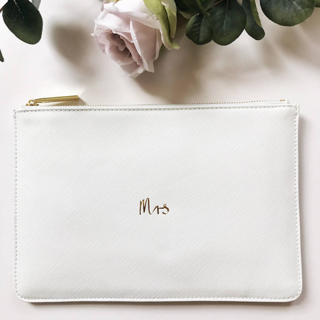 11478547c0ea Mrs Slogan Clutch Bag White - clutch bags