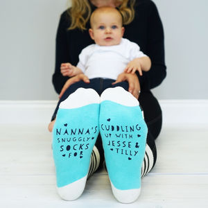 Personalised Snuggle Socks - gifts for grandparents