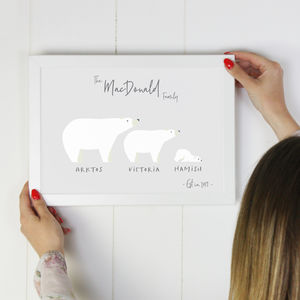 Polar Bear Family Print - family & home
