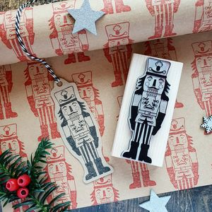 Christmas Nutcracker Rubber Stamp