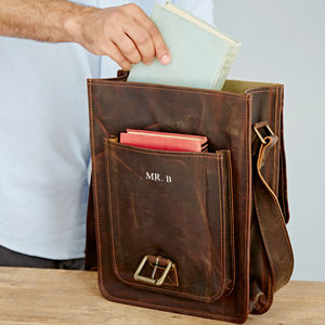 Personalised Buffalo Leather Messenger Bag - view all new