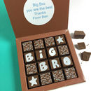 Personalised Message Big Bro Chocolates