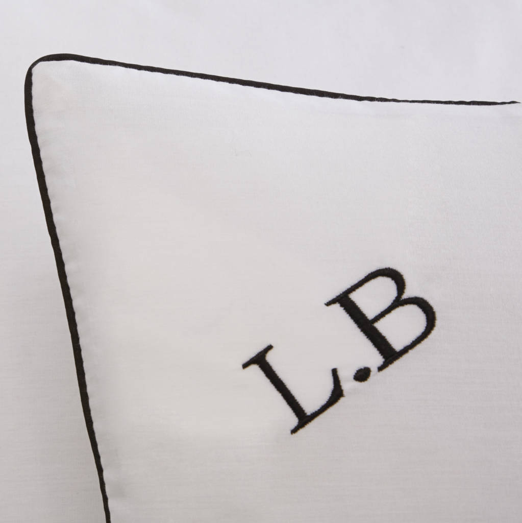 Embroidered Initials Pillowcase Set