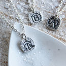 Silver Botanical Initial Necklace