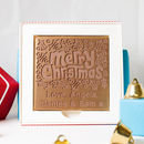 Personalised 'Christmas Holly' Chocolate Card