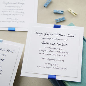Elegance Blue Wedding Invitation
