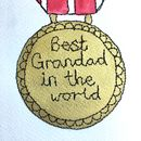 Hand Painted And Embroidered Gold Medal Artwork