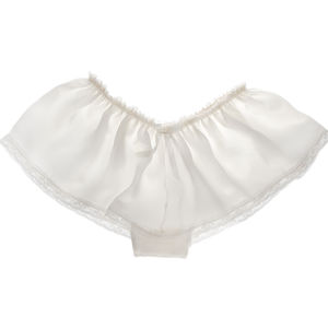 Aurelie Ivory Silk Wedding Knickers - the morning of the big day