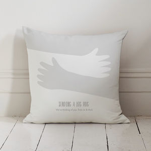 Personalised Hugging Arms Hug Cushion - 'thinking of you' gifts