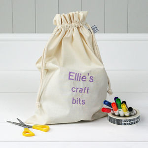 Personalised 'Little Craft Bits' Travel Sack