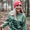 'Go Explore' Heather Red Beanie And Bag