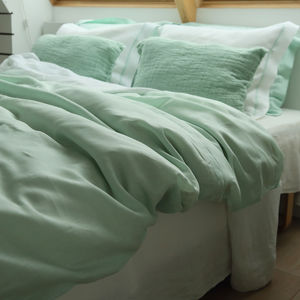 Bed Linen Set With Piping - bedroom