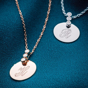 Personalised Precious Metal And Cubic Zirconia Necklace - necklaces & pendants