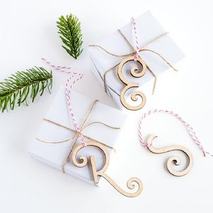 Fancy Initial Gift Tag