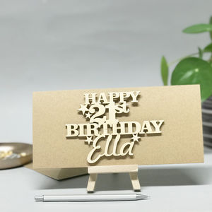 Personalised 21st Birthday Card Keepsake
