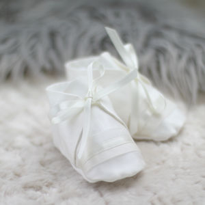 Boys Christening Booties George - christening wear