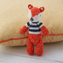 Hand Crochet Fox Baby Rattle