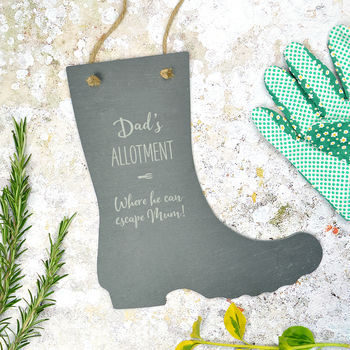 Personalised Slate Garden/Allotment Sign