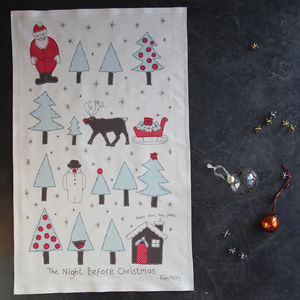 Christmas Tea Towel The Night Before Christmas