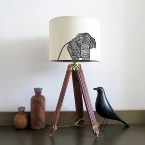 Elephant Lampshade With Colour Inside Lining - lampshades