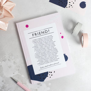 Friend Poem Notebook - gifts for her