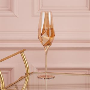 Set Of Four Diamond Shaped Champagne Flutes