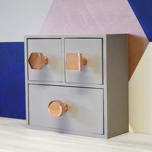 Modern Matte Copper Cupboard Door Knobs