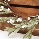 Frosted White Berry Mistletoe Christmas Wreath