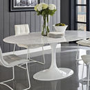 Circular Dining Table White, Marble Or Walnut Top