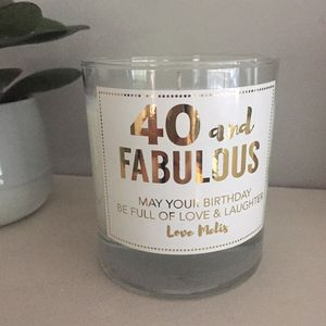 40 And Fabulous Prosecco Candle - table decorations