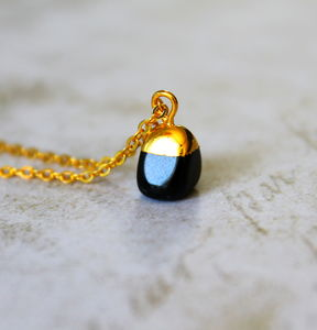 Children's Mini Black Onyx Stone Necklace - whatsnew