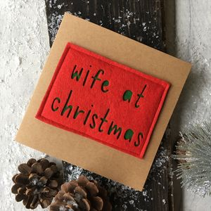 'Wife At Christmas' Card - cards
