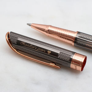 Personalised Rhodium And Rose Gold Plated Pen - gifts for her