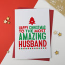 Amazing Husband Christmas Card