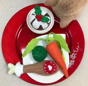 Catnip Toys, Christmas Dinner Cat Toys - cats