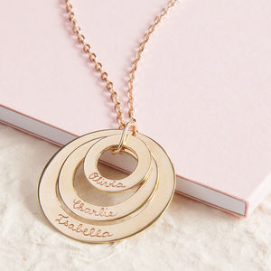 Personalised Eternity Trio Necklace - 25th anniversary: silver