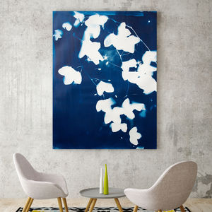 Drifting Blues Ii, Canvas Art - nature & landscape
