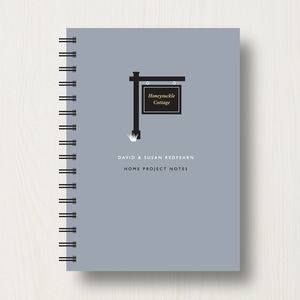 Personalised New House Journal Or Planner - housewarming gifts
