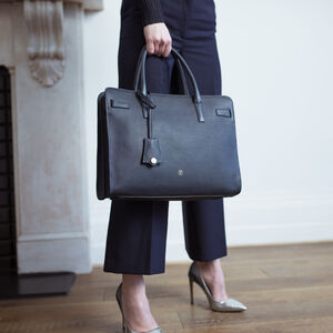 Personalised Women's Leather Briefcase Tote 'Enrica'