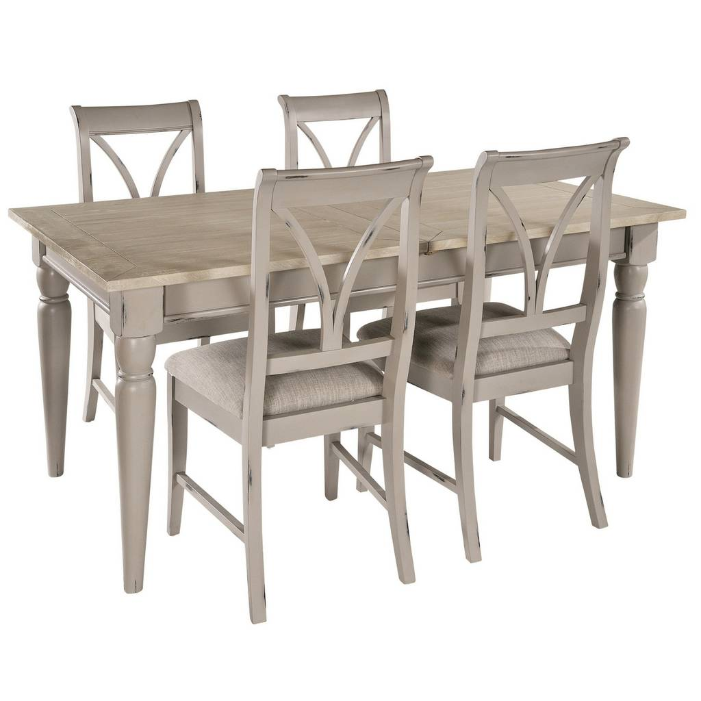 Warwickshire extendable dining table grey or ivory