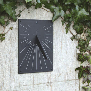 Eco Friendly Recycled Wall Mounted Sundial - gifts for gardeners