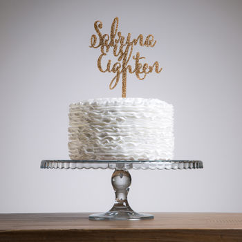 Script Age And Name Birthday Cake Topper Set