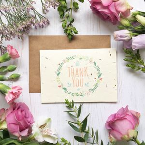 Plantable Thank You Card - thank you cards