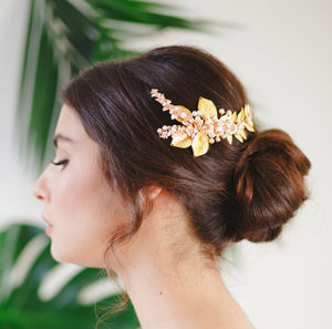 Ariana Fern And Orchid Bridal Hair Comb - hothouse wedding trend